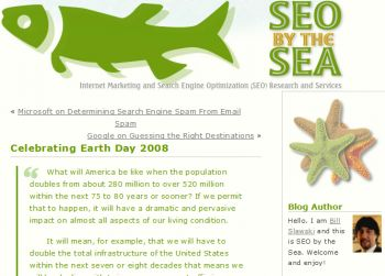 SEO By the Sea Earth Day 2008