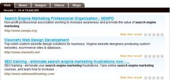 Search Engine Marketing Search Results