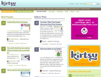 Kirtsy Home Page