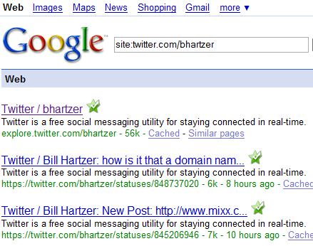 twitter spam google search results