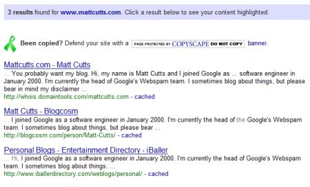 Matt Cutts Duplicate Web Pages