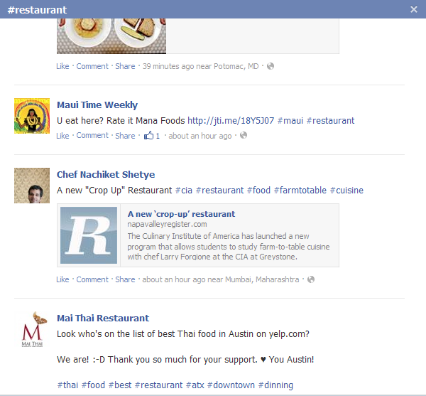 Facebook Now Support #Hashtags