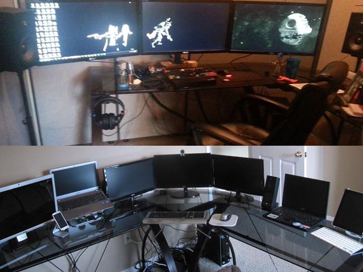 mutl-monitor and computer home setup