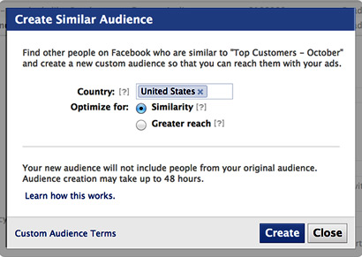 Facebook Similar Lookalike Audience