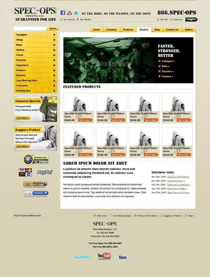 Spec-Ops site screenshot