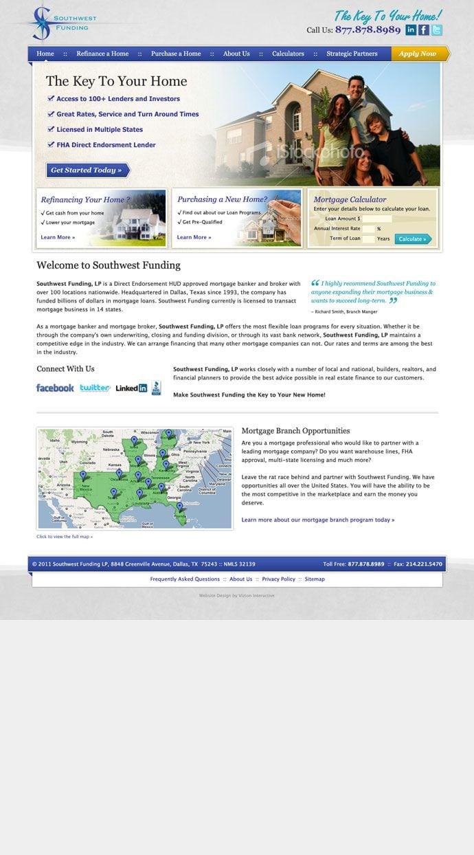 Southwest Funding site screenshot