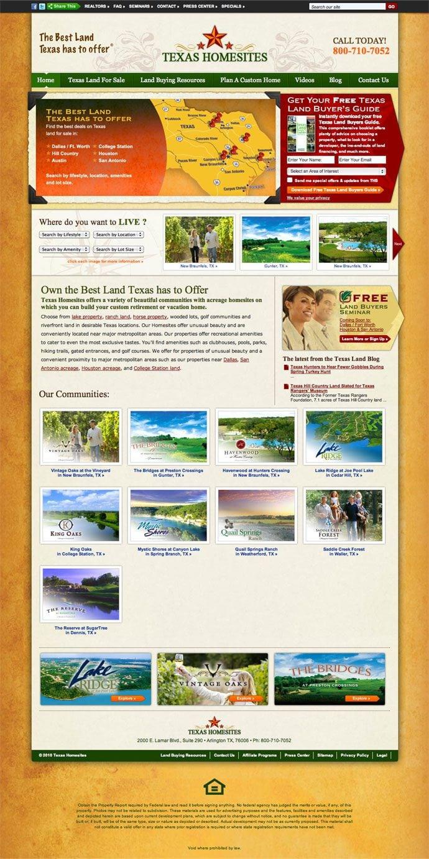 Texas Homesites site screenshot