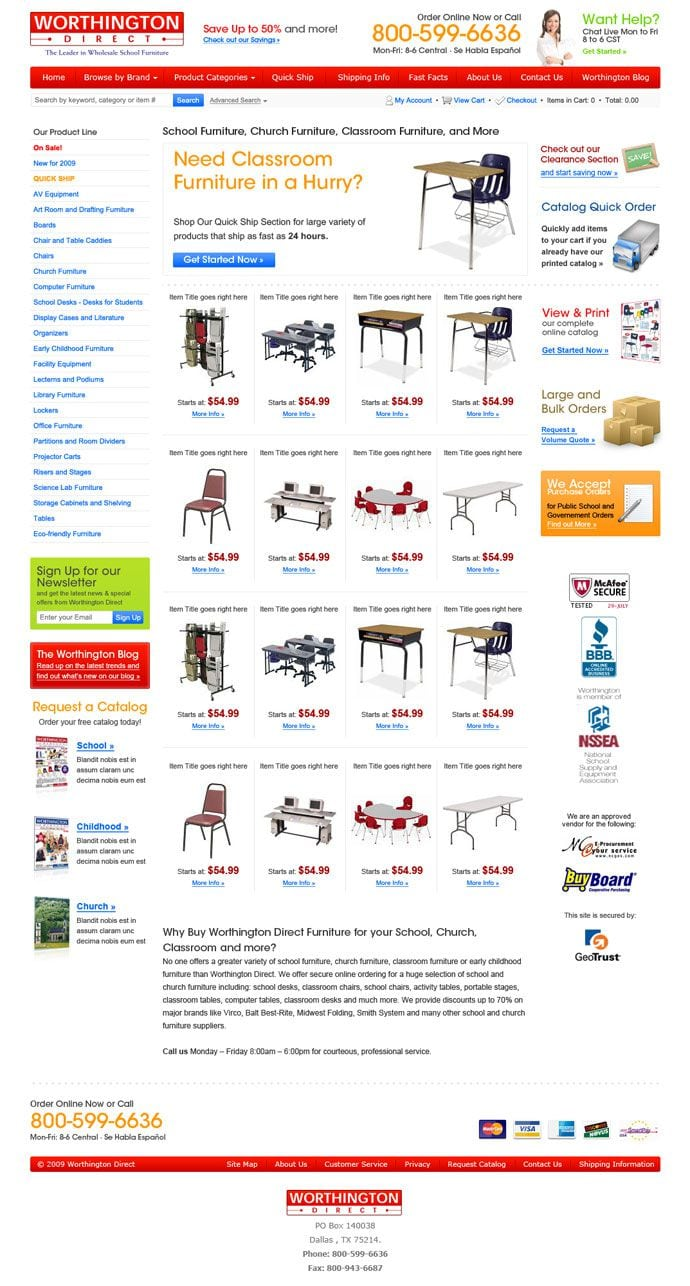 Worthington Direct site screenshot