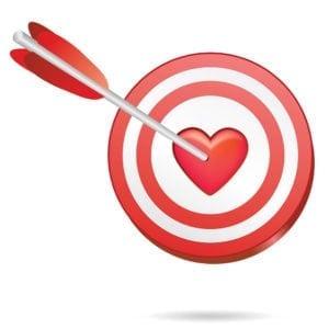 Heart-bullseye