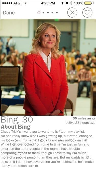 bing tinder profile