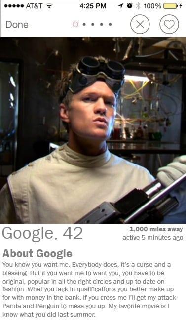 google tinder profile