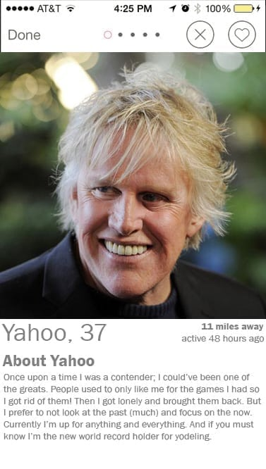 yahoo tinder profile