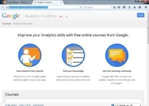 Analytics Academy Home Page