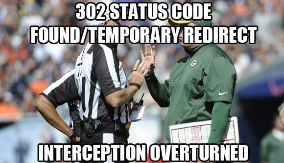 302 temporary redirect