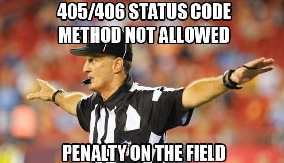 405 method not allowed