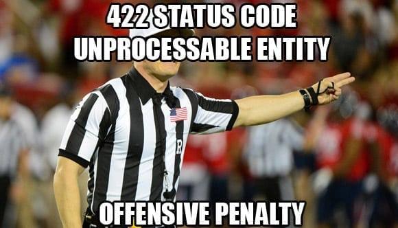 422 unprocessable entity