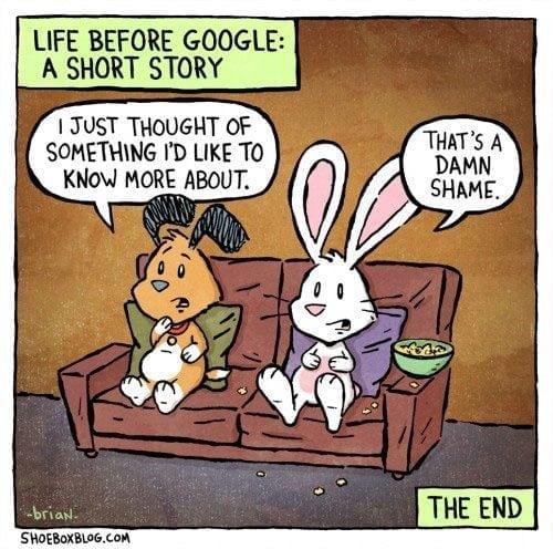 Life before Google comic