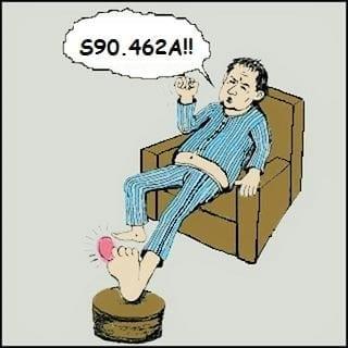 my toe!