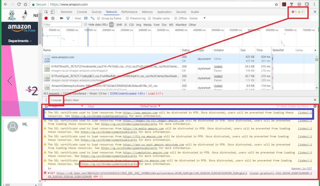 Even Amazon Com Is Out Of The Know Google Chrome's Plan to Distrust Symantec Certificates Vizion Interactive
