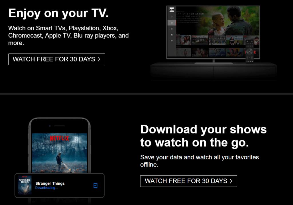 Netflix Cta Call to Action Examples to Follow Vizion Interactive