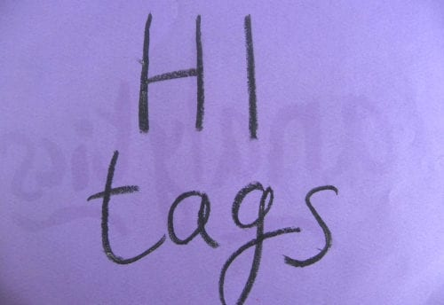 h1 tags in seo