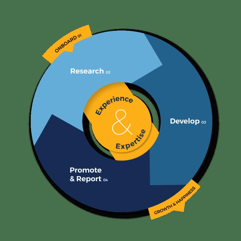 Process Wheel Website Content Copywriting Services Vizion Interactive