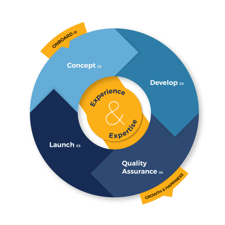 Process Wheel Custom Website Design Vizion Interactive